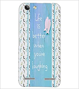 PrintDhaba Quote D-5840 Back Case Cover for LENOVO A6020a46 (Multi-Coloured)