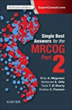 img - for Single Best Answers for MRCOG Part 2, 1e book / textbook / text book