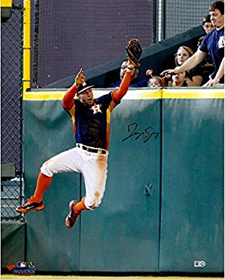 George Springer Houston Astros Autographed 16'' x 20'' Wall Catch Photograph - Fanatics Authentic Certified