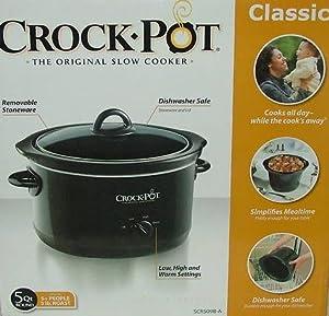 Amazon.com: Classic Crock-pot the Original Slow Cooker 5 Qt. SCR509B-A ...