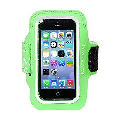Iphone 6 Armband, iPhone 6s Armband - Travelllor® Sport Gym Sweatproof Running Armband, Slim Lightweight, Dual-Arm Size Slot with Card Fitness Jogging Cycling Holder for Apple iPhone 6/6s 4.7inch