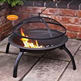Lawn &amp; Patio - Gardeco Lucio Portable Fire Bowl/Firepit with BBQ Grill and Carry Bag