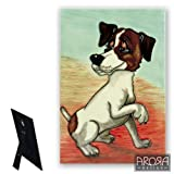 The Art of Arora Jack Russell Ceramic Tile