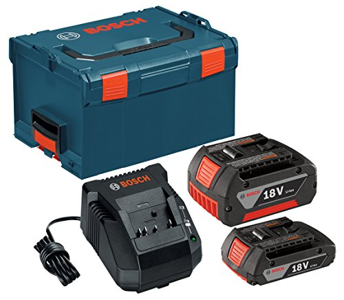 Bosch SKC181-303L 18-Volt Lithium-Ion Starter Kit with (1) 2.0Ah Battery and (1) 4.0Ah Battery, Charger and L-BOXX-3 (Bosch Rhh181bl compare prices)