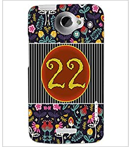 PrintDhaba Numerology Number 22 D-3110 Back Case Cover for HTC ONE X (Multi-Coloured)