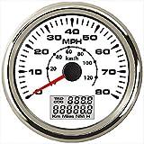 ELING Universal GPS Speedometer Odometer 80MPH 120KM/H with ODO COG Trip 7 Backlights 85mm 12V 24V