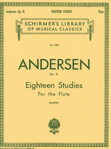 アンデルセン : フルートのための18の練習曲 Op.41/シャーマー社
