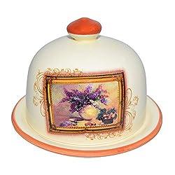 St.Millers Ceramic Butter Dish, Orange