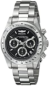 Invicta Speedway 9223 40 Silver Steel Bracelet & Case Mineral Men's Quartz Watch