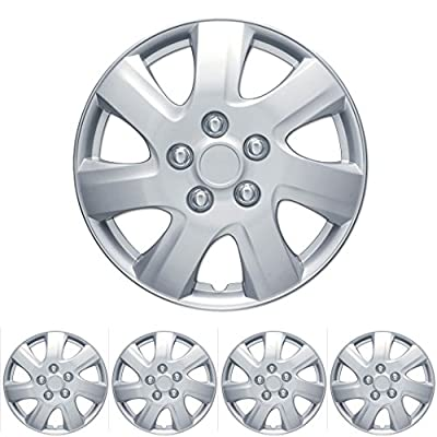 "4 PC Set 16"" Silver Hubcaps Wheel Cover OEM Replacement Wheel Skin Cover"