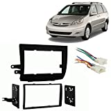 Fits Toyota Sienna 2004-2010 Double DIN Stereo Harness Radio Install Dash Kit