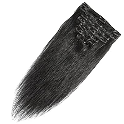"10""-24"" 70g-120g Clip in Remy Human Hair Extensions Full Head 8 Pieces Set Short/Long length Straight Very Soft Style Real Silky for Beauty"
