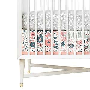 dwellstudio canvas crib skirt posey baby