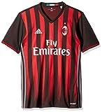 International Soccer Ac Milan Men's Jersey, Medium, Black/Red/Granite