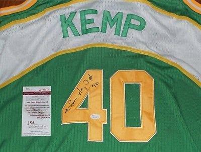 Shawn Kemp Autographed Jersey Shawn Kemp Signed Jersey 40
