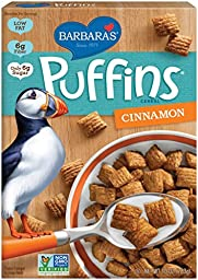 Barbara\'s Puffins Cereal, Cinnamon, 10 Ounce (Pack of 6)