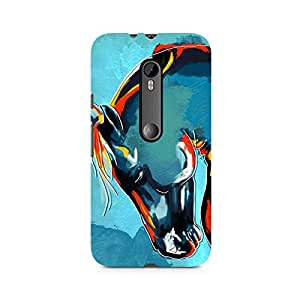 Mobicture Horse Graphics Premium Designer Mobile Back Case Cover For Moto X Play