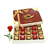 Sweet Gift Hamper To Your Love With Rose - Chocholik Luxury Chocolates