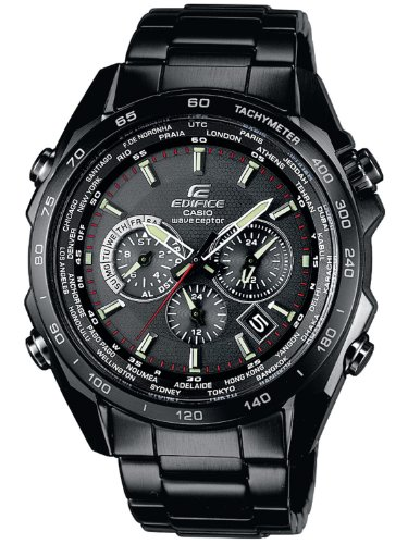 Casio EQW-M600DC-1AER Gents Watch Quartz Analogue Black Dial Black Steel Strap