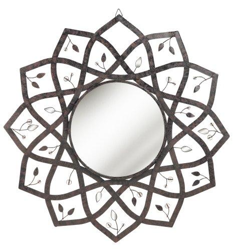 Grasslands Road Metal Lotus Mirror, 18-Inch
