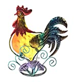 Bejeweled Display® Beautiful Rooster w/ Stain Glass Candle Holder & Home Decor