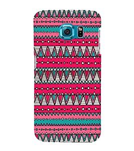 Triangular Pattern 3D Hard Polycarbonate Designer Back Case Cover for Samsung Galaxy S6 :: Samsung Galaxy S6 G920