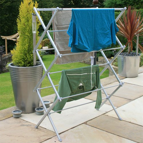 3 Tier Heavy Duty Extra-Strong Metal Clothes Airer Indoor/Outdoor