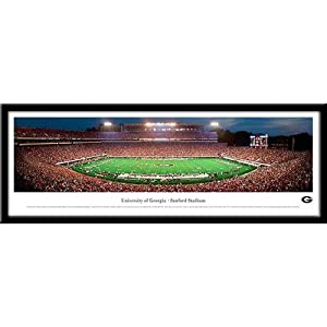 Georgia Bulldogs Sanford Framed Panoramic Stadium Print by Landmark Publishing