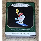 1999 Hallmark Keepsake Ornament Winter Fun With Snoopy Collector's Series ~ Hallmark Keepsake...