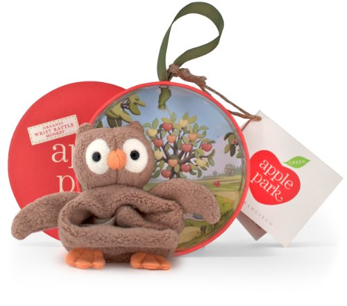 Apple Park Picnic Pal Wrist Rattle, Owl - 1