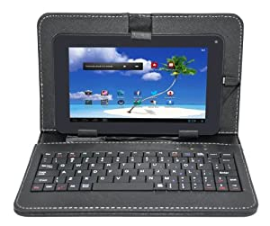 Proscan 7-Inch Android Internet Tablet, Capacitive Touch Screen, Android 4.1 Jelly Bean, with Included Case and Keyboard