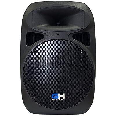"Grindhouse 2000W 15"" Active Powered DJ PA Main Speaker 1/8 Aux 1/4 XLR Mic RCA for Musician Band DJ Karaoke Church Event Venue"