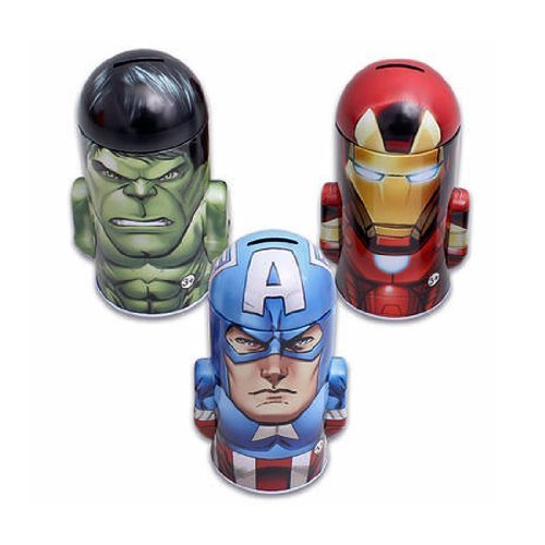 Marvel Character Molded Saving Bank (Set of Three):Iron Man , Hulk , Captain America