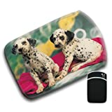 Dalmation Puppies For Amazon Kindle Fire & Kindle 3G Keyboard Soft Protection Neoprene Case Cover Sleeve Bag With Pocket which is Ideal for Headphones, Data Cable etc