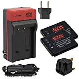 EZOPower 2 x Li-ion Battery + AC&Travel Charger + UK Plug for FujiFilm FinePix X20, XF1, XP200, XP170, XP100, F850EXR, F900EXR, F800EXR, F505EXR, F550EXR Digital Camera (Compatible with Fuji NP-50A)
