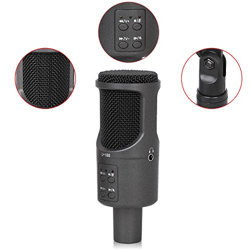 firstec usb microphone d enregistrement micro studio microphone plug play microphone. Black Bedroom Furniture Sets. Home Design Ideas