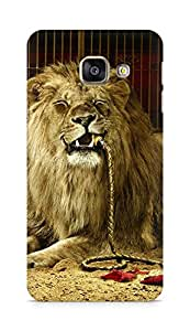 Amez designer printed 3d premium high quality back case cover for Samsung Galaxy A3 (2016 EDITION) (Abstract Lion 4)