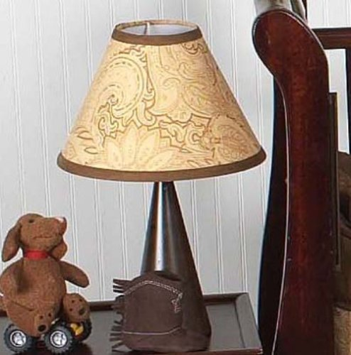 Sweet Jojo Designs Lamp Shade - Camel and Chocolate Paisley - 1