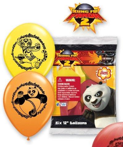 Kung Fu Panda Balloons - 6 Kung Fu Panda Latex Balloons - 1