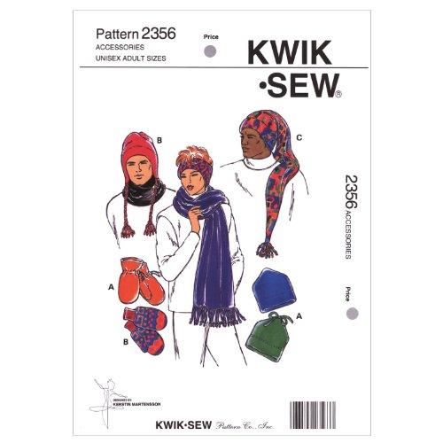 Kwik Sew K2356 Hats Sewing Pattern, Mittens