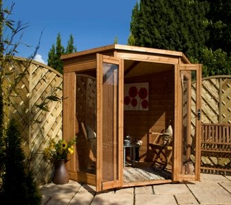 Premier Corner Summerhouse with Double Door Size: 197c m H x 199 cm W x 199 cm D