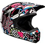 Fox 2012 V2 Race Bike Helmet - 01257 (Pure Filth - Blue/Black - 2XL)
