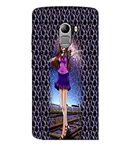 PrintDhaba Cute Girl D-4998 Back Case Cover for LENOVO K4 NOTE A7010 (Multi-Coloured)