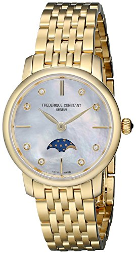 Frederique-Constant-Womens-FC206MPWD1S5B-Diamond-Accented-Gold-Plated-Stainless-Steel-Watch