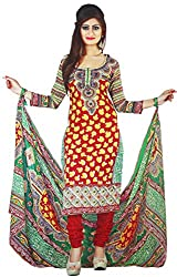 Majaajan Multicolor Cotton Printed Unstitched Dress Material