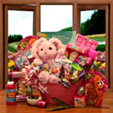 Sweet Treats and Activities Easter Gift Basket for Girls -Pink