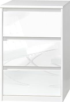 CS Schmalmöbel 75.185.012/11 Grifflose Kommode Soft Plus Smart Typ 11, 45 x 55 x 84 cm, weiß/weiß hochglanz