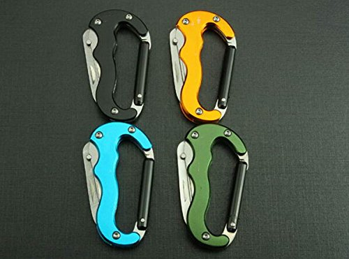 Multi Tool Survival Knife Multi-Function Outdoor Climbing Buckle Hd-4.52'' (Black)