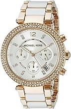 Comprar Michael Kors MK5774 - Reloj de cuarzo con correa de acero inoxidable para mujer, color blanco