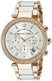 Michael Kors Women's MK5774 Parker Gold-Tone and White Watch
